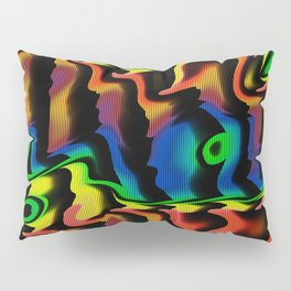 Psychedelic fluorescent graffiti wall Pillow Sham