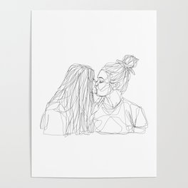 Girls kiss too Poster