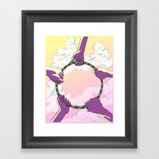 Hooping Hands Framed Art Print