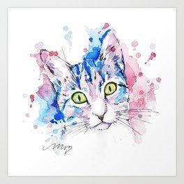 Watercolor Miju Art Print