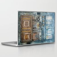 cityscape Laptop & iPad Skins featuring Cityscape by Maureen Mitchell