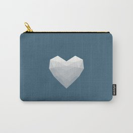 Modern Love - White on Blue Carry-All Pouch