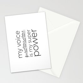 My voice is my super power (soprano, white version) Stationery Cards