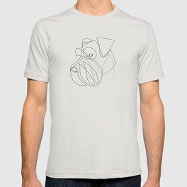 Mittelschnauzer - one line drawing T-shirt