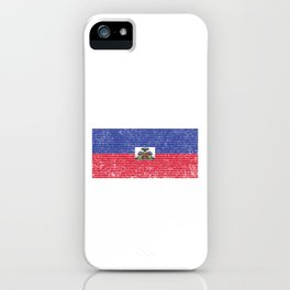 Haiti Country Vintage Haitian National Flag Gift iPhone Case