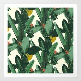 Crystal Gardens Pattern Art Print
