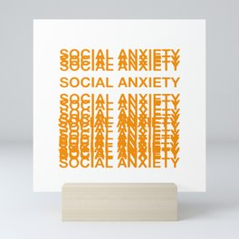 Anxiety Amazon Logo Mini Art Print