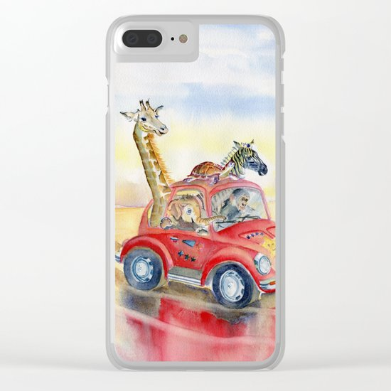 Go To The Beach Clear iPhone Case