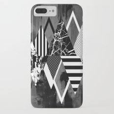 STAND OUT! In Black And White - Abstract, textured geometry! iPhone 7 Plus Slim Case