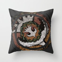 The Holy Dove & Crown Of Thorns Throw Pillow
