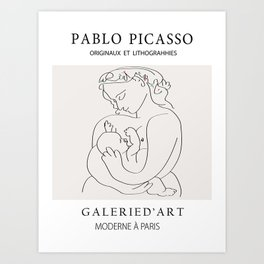 Picasso - Mothers love Art Print