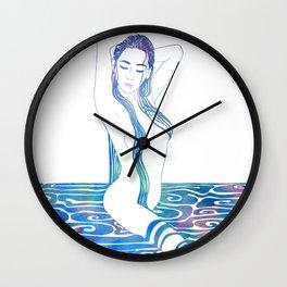 Water Nymph XCIII Wall Clock