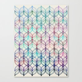 Mermaid's Braids - a colored pencil pattern Canvas Print