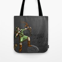 archer Tote Bags featuring Archer the archer by YassirM