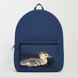 Cute Duckling Swimming in a Pond Backpack