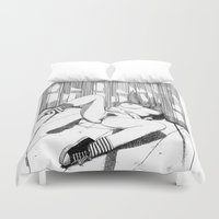 apollonia Duvet Covers featuring asc 527 - La planque (You can't see me) by From Apollonia with Love