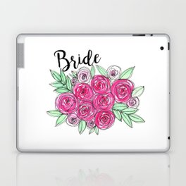 Bride Wedding Pink Roses Watercolor Laptop & iPad Skin