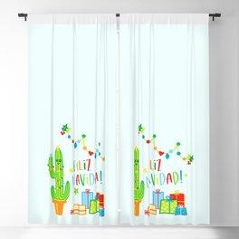 cactus feliz navidad christmas gift idea kids Blackout Curtain