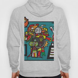 Humble Witch Doctor - Aztec / MesoAmerican Abstract Illustration Hoody