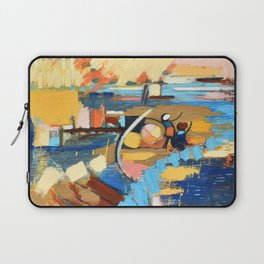 West End Blues Abstract Expressionism Painting Laptop Sleeve