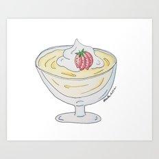 V is for Vanilla Pudding Art Print