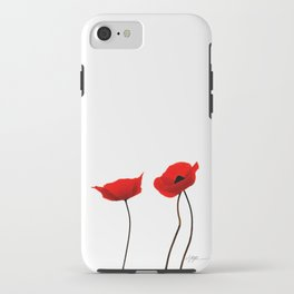 Simply poppies iPhone Case