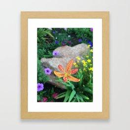 Speckled Flora Framed Art Print
