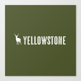 Deer: Yellowstone Canvas Print