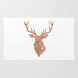 Sparkling reindeer blush gold Rug