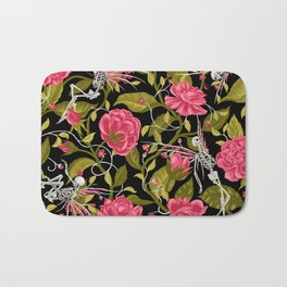 Death of Summer (black and rose) Bath Mat