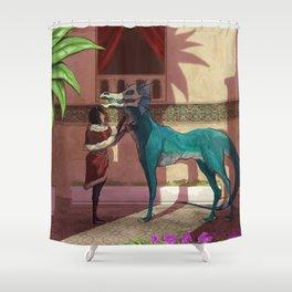 Glimmer coat Shower Curtain