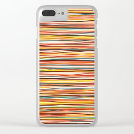 Colored Lines #1 Clear iPhone Case