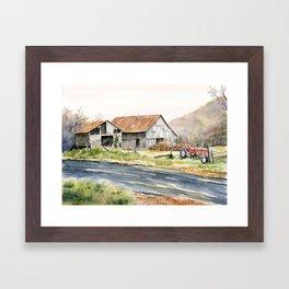 Kentucky Tobacco Barn Framed Art Print