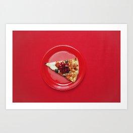 fancy pizza Art Print