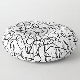 Schlong Song in White, All the Penis! Floor Pillow