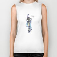 brompton Biker Tanks featuring Me and My Brompton by Swasky