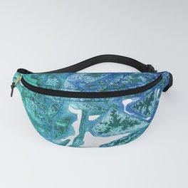 Sea Leaves, Environmental Love of the Ocean Blue Fanny Pack