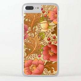 Fall Flowers Clear iPhone Case