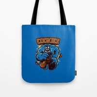 cookies Tote Bags featuring Cookies! by WinterArtwork
