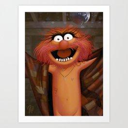 Muppet Maniac - Animal as Buffalo Bill Art Print