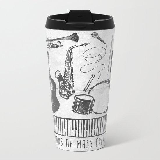 Weapons Of Mass Creation - Music (on paper) Metal Travel Mug