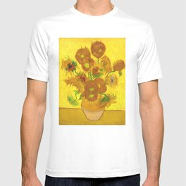 Vincent Van Gogh Fifteen Sunflowers In A Vase T-shirt