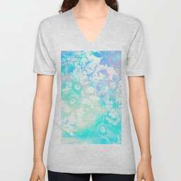 Floral Dream Pastel Hologram Unisex V-Neck