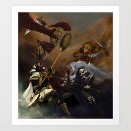Battle of Gods Art Print