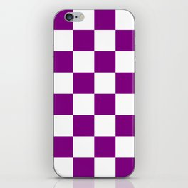Large Diamonds - White and Purple Violet iPhone Skin