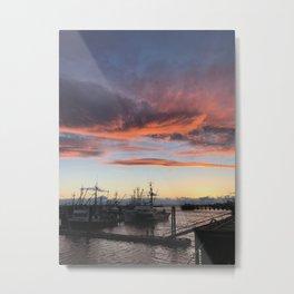Steveston Sunset 1 of... Metal Print