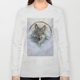 Dreamcatcher - Spirit Animal Wolf Long Sleeve T-shirt