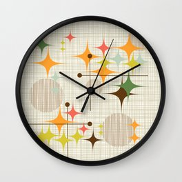 Starbursts and Globes 3 Wall Clock