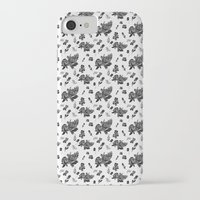 vintage floral iPhone & iPod Cases featuring VINTAGE FLORAL by Kiley Victoria