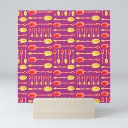 Unique Artsy Spoons! (Warm Colors) Mini Art Print